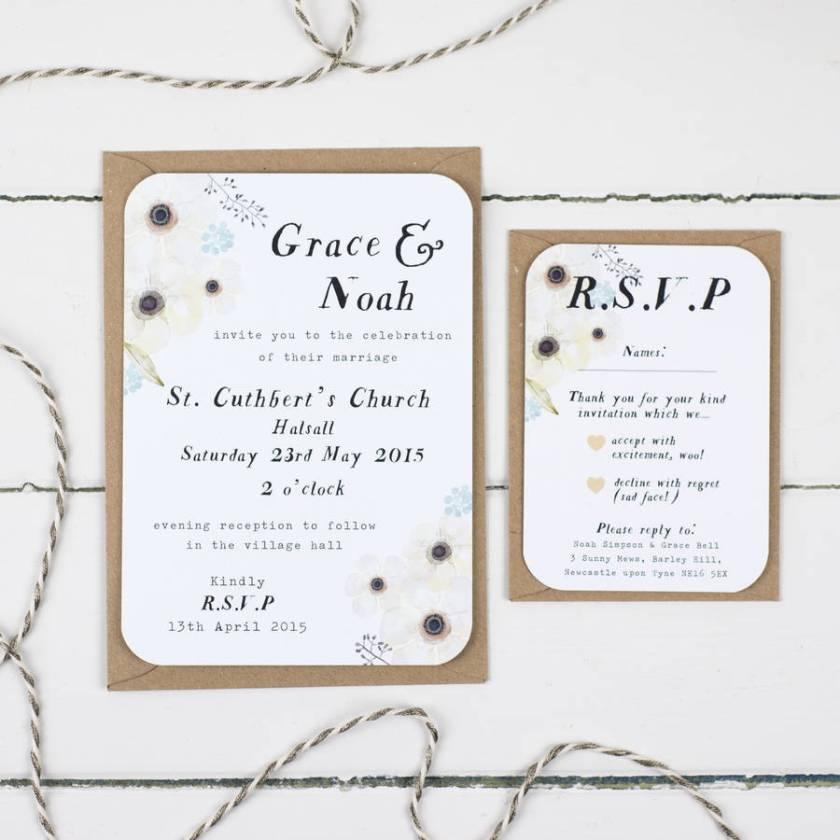 Fl Garden Wedding Invitation