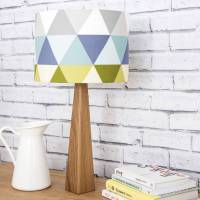 geometric lamp and shade by james design