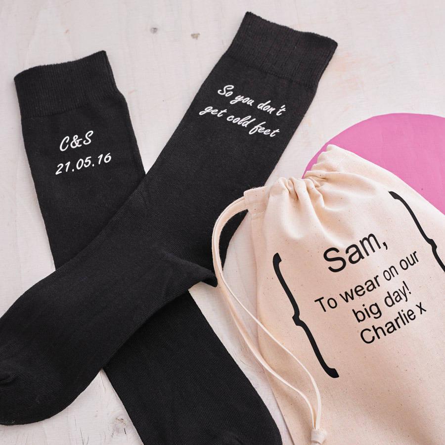 personalised cold feet wedding socks by solesmith  notonthehighstreetcom