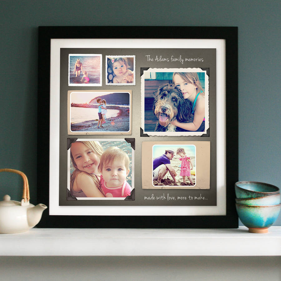 personalised photo memories collage