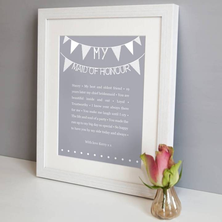 Personalised Maid Of Honour Photo Frame | Viewframes.org