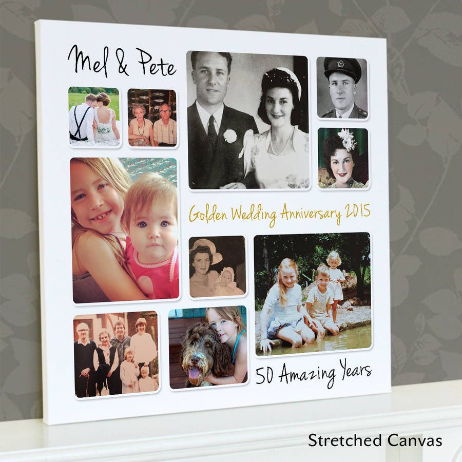 personalised golden wedding anniversary