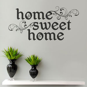 Home Sweet Home Wall Sticker By Making Statements