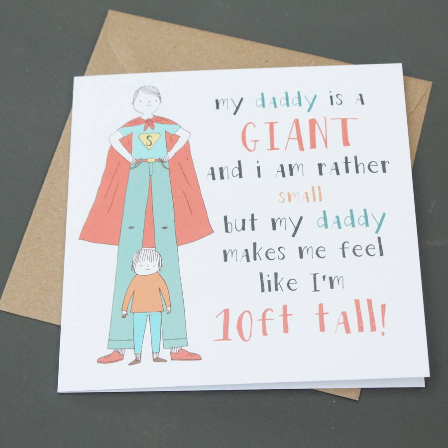 'daddy Is A Giant' Father's Day Card By Lou Brown Designs
