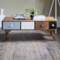 milligan retro multi drawer coffee table by atkin and ...