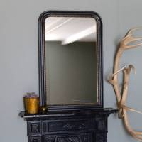 gold edged vintage wall mirror by the forest & co ...