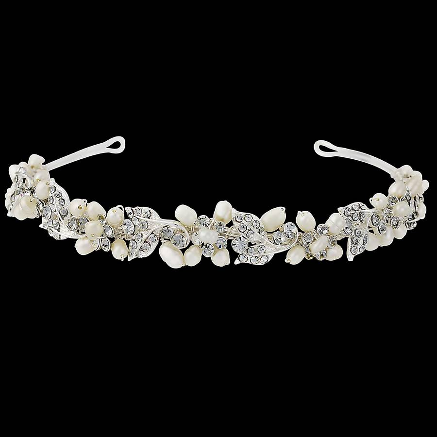 Pearlie Crystal Hair Band By Lola Amp Alice