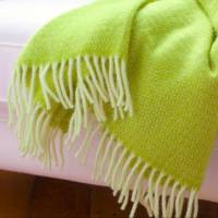 lime green wool throw and cushion cover by jodie byrne ...