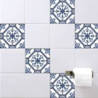 spanish tile stickers antique blue by spin collective