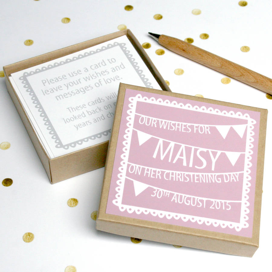 personalised christening guest message