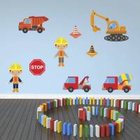 boys construction site wall stickers pack by mirrorin ...
