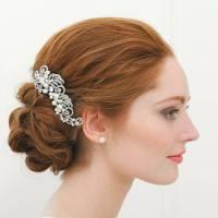 pearl filigree wedding hair comb by highland angel ...