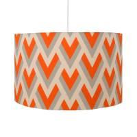 orange arrow geometric lampshade by hunkydory home ...