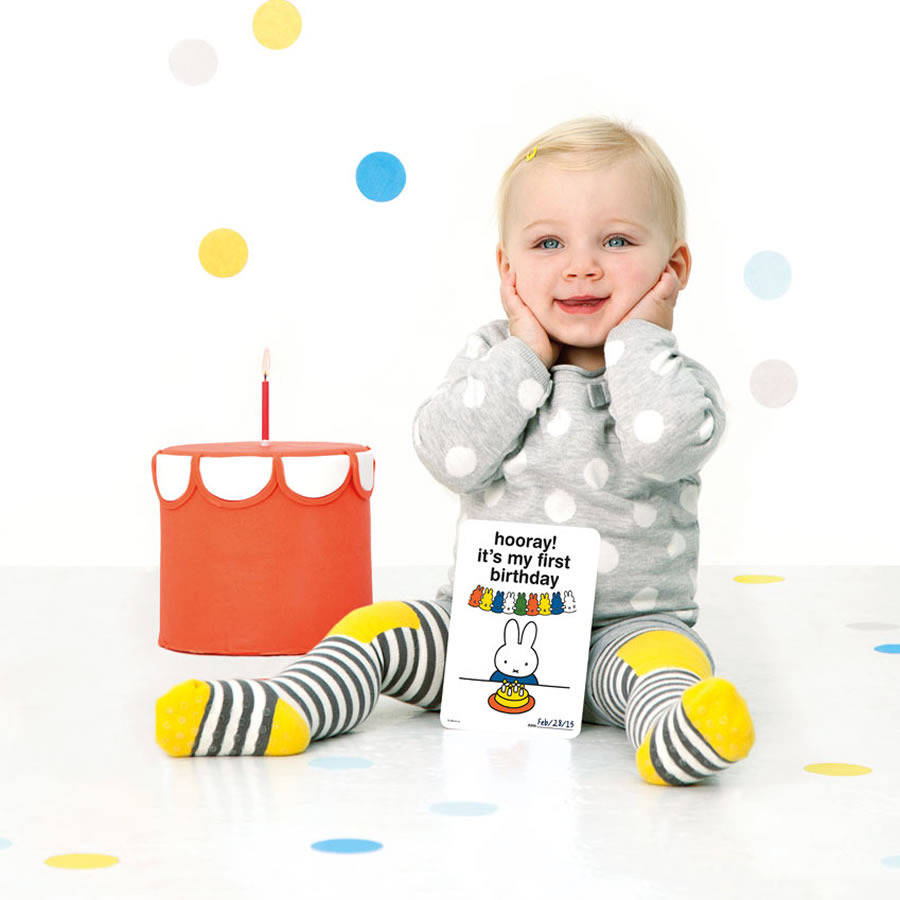 miffy baby milestone baby cards set of 30 by little baby