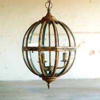 italian gold globe ceiling pendant light chandelier by ...