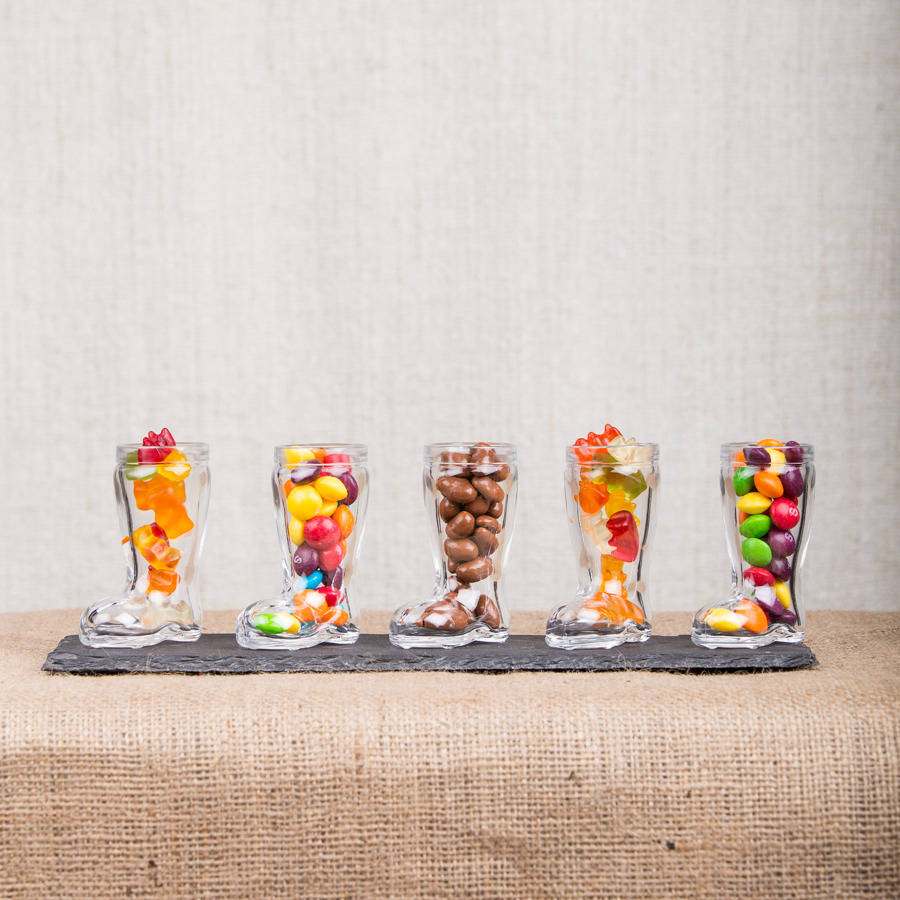 Ten Wellington Boot Shot Glasses By The Little Red Berry