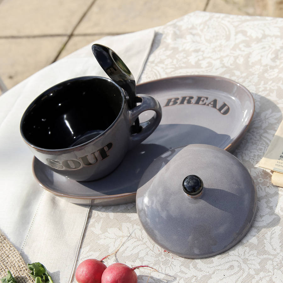 traditional soup bowl and spoon set by dibor