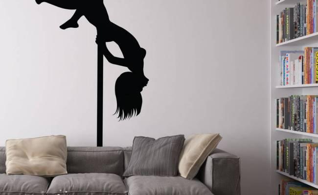 Pole Dancer Vinyl Wall Art Decal By Vinyl Revolution
