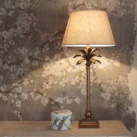 copper coloured palm tree table lamp base by cowshed ...