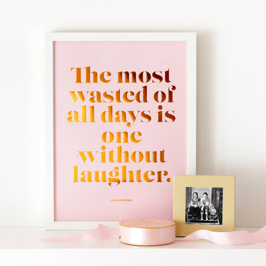 laughter pink and copper