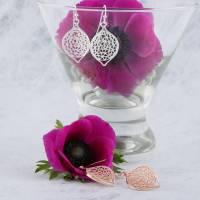 filigree leaf earrings by baronessa   notonthehighstreet.com