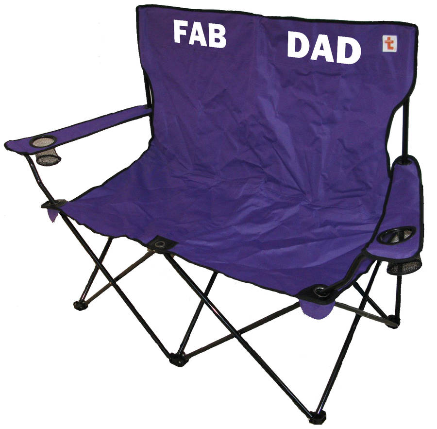 Double Camping Chair Fathers Day Personalised Outdoor Double Folding Chair