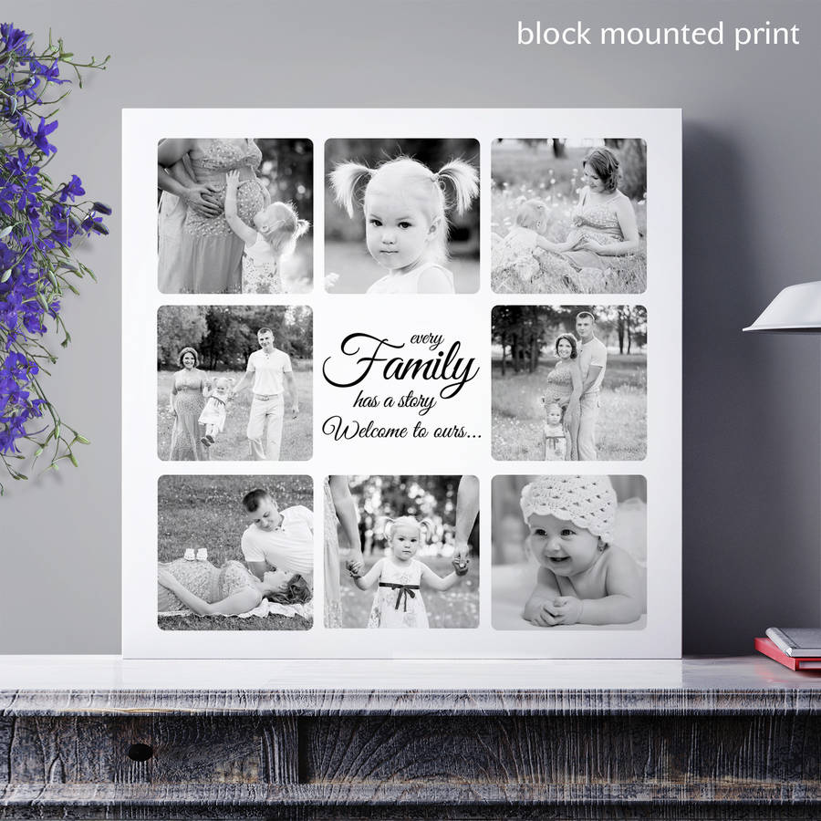 personalised message family collage