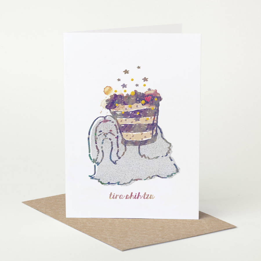 Shih Tzu Dog 'tira Shih Tzu' Birthday Card By Pugyeah