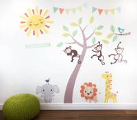 pastel jungle animal wall stickers by parkins interiors ...