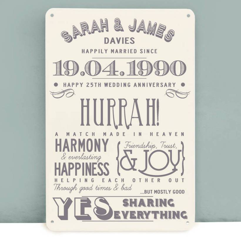 Gift Ideas For Silver Wedding Anniversary Husband