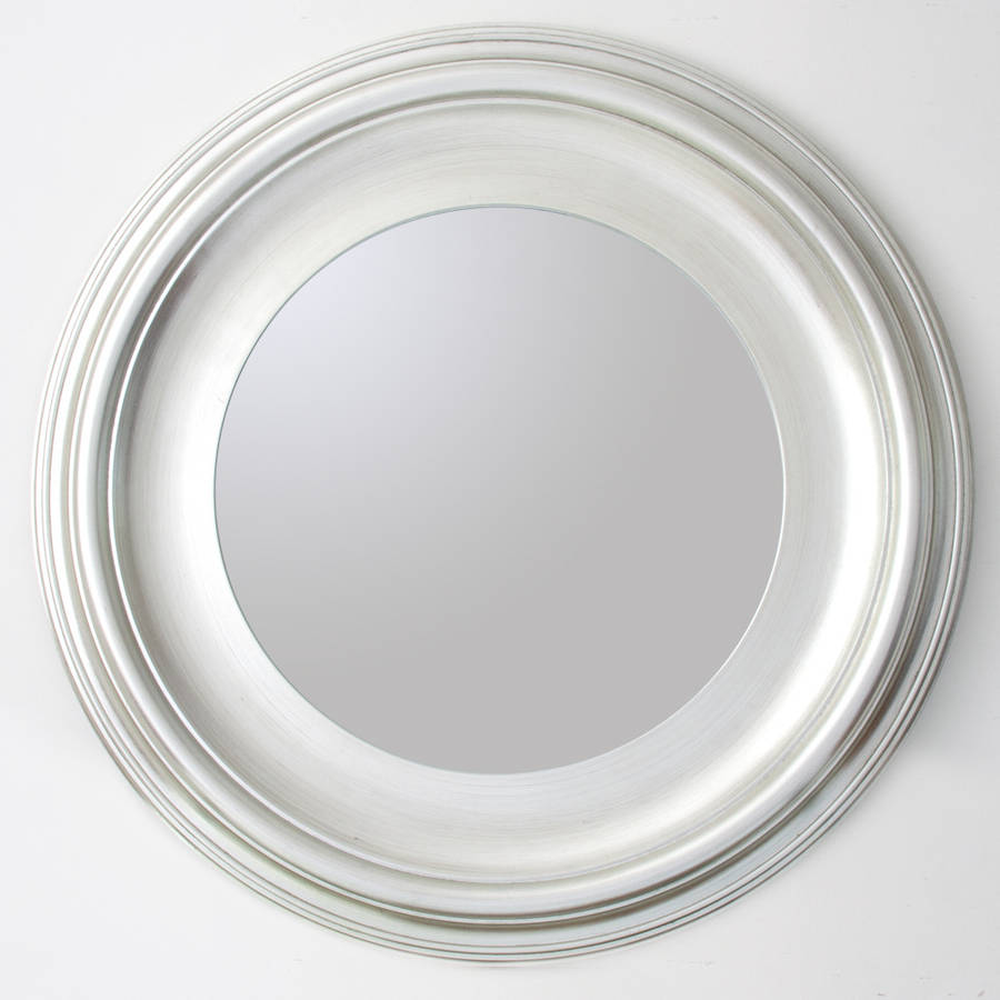 silver round mirror by decorative mirrors online  notonthehighstreetcom