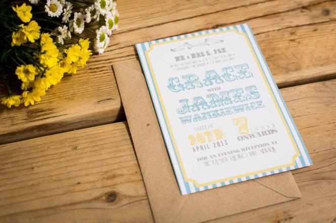 Retro Seaside Wedding Invitations Bundle