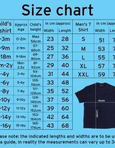 Kids  shirts size chart also people davidjoel rh