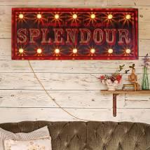 Vintage Illuminated Sign Immerse In Splendour