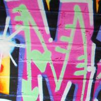 personalised pink graffiti wall stickers by nest ...