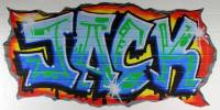personalised blue graffiti wall stickers by nest ...