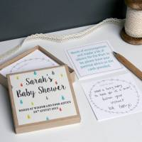 personalised baby shower message box by modo creative ...