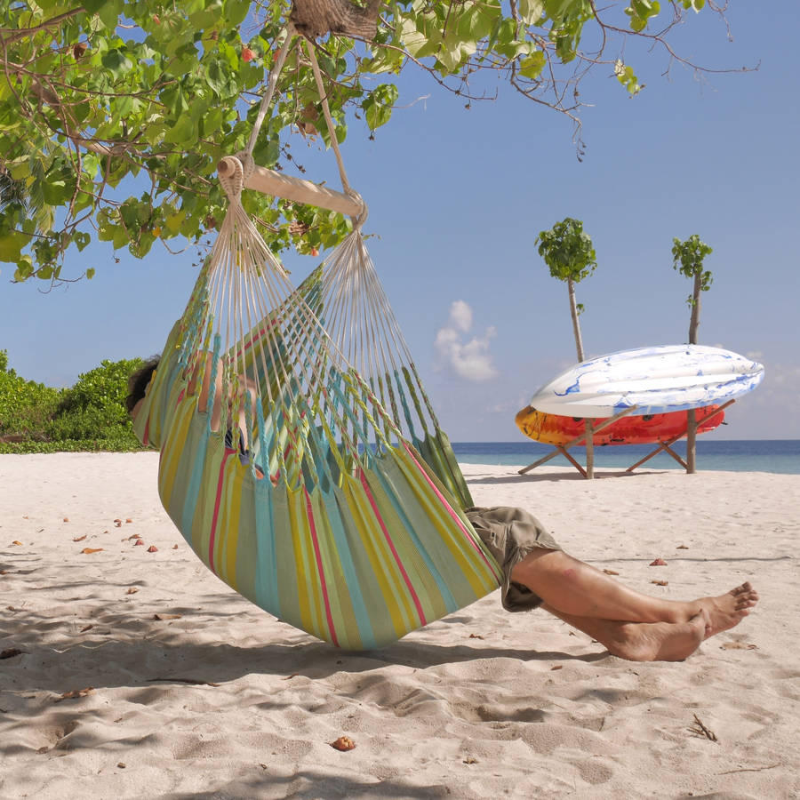 hanging chair notonthehighstreet steel office cost iguana olive by emilyhannah ltd com
