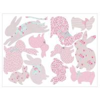 children's rabbit wall stickers by koko kids ...