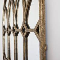 'rustic' gold metal window mirror by decorative mirrors