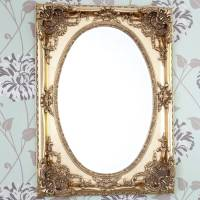 gold ornate oval mirror by decorative mirrors online ...