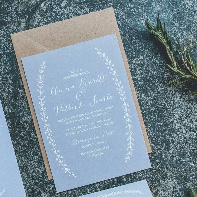 Boho Graceful Calligraphy Wedding Invitations