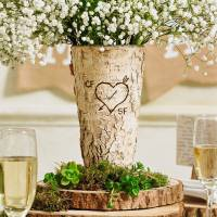 personalised rustic birch wood vase by the letteroom ...
