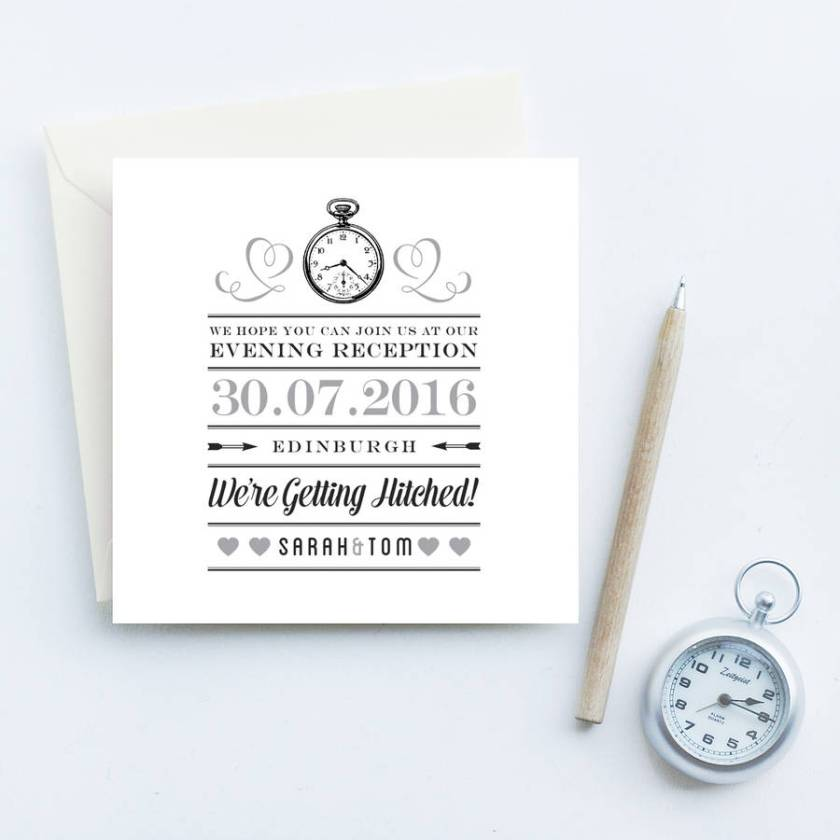 Evening Reception Wedding Invites