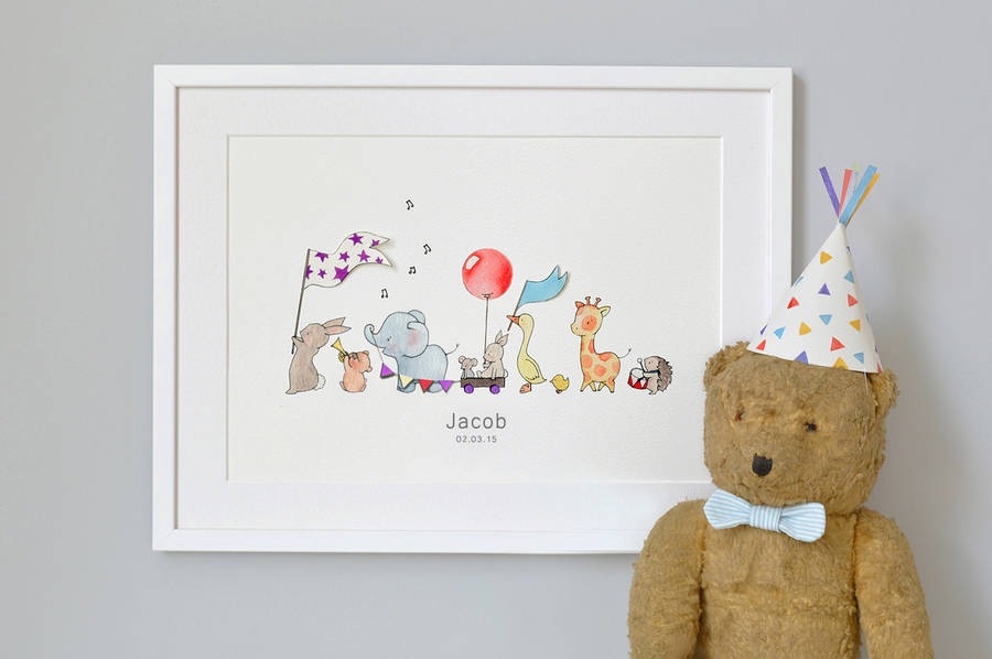 personalised animals on parade