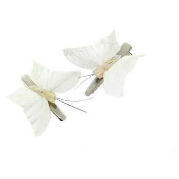 butterfly hair clips multiple colours available by stephanieverafter notonthehighstreet