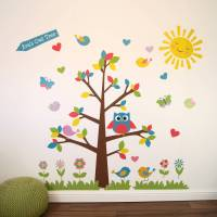 owl tree wall stickers by parkins interiors ...
