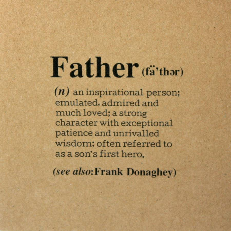 personalised 'father' definition card by betsy jarvis ...