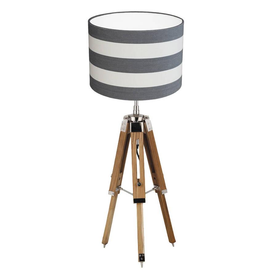 medium resolution of tripod table lamp stripe shade