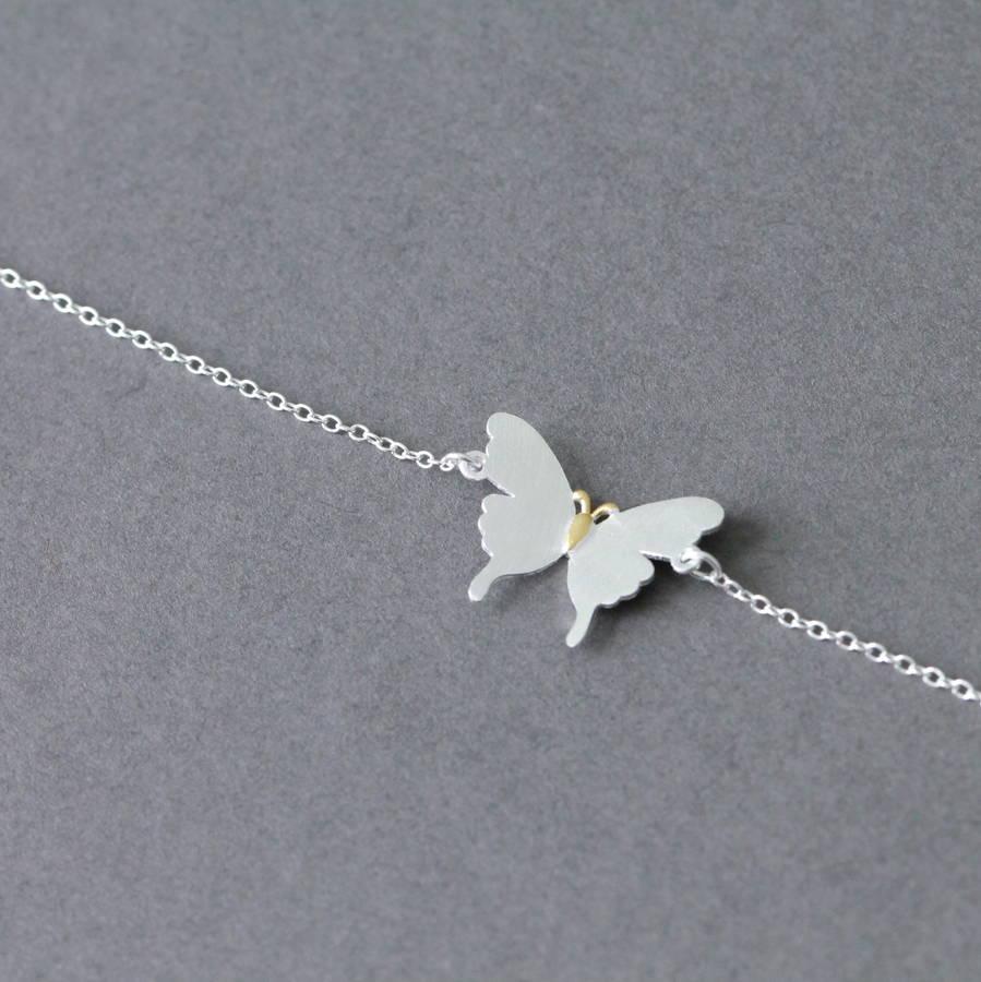 sterling silver butterfly bracelet by attic